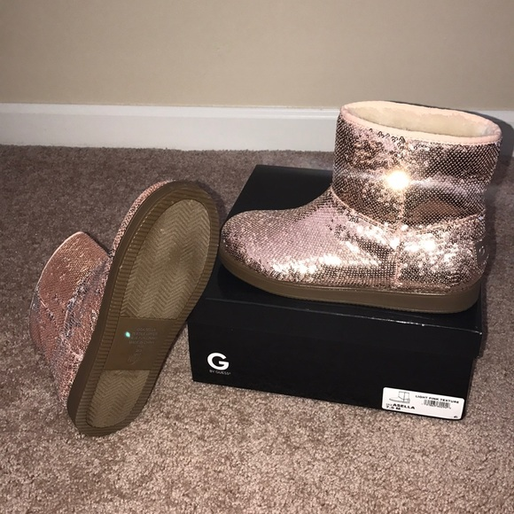 4e68d4d2e912 G by Guess Shoes | Pink Sequin Boots | Poshmark